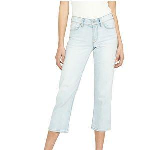 Hudson Stella Midrise Crop Straight Jean Sz 30